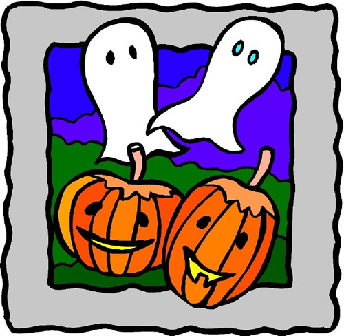 ghosts and pumpkins