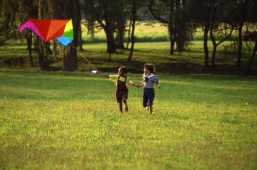 kids and kite