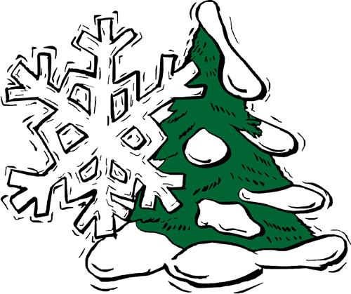tree and snowflake