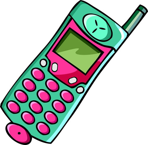 clipart cell phone use - photo #10