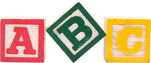 building blocks labeled A, B, and C