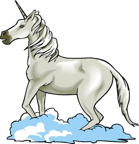 Unicorn on a cloud
