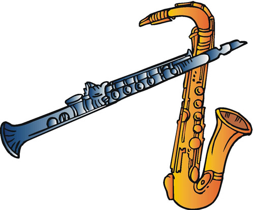 image of clarinet and saxophone
