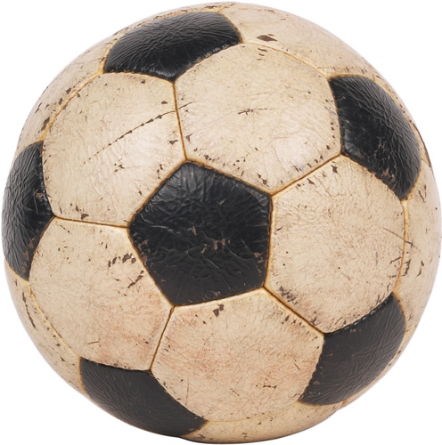 photo of a black and white soccer ball