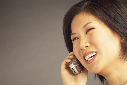 woman speaking on phone