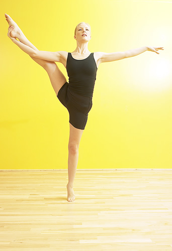 woman in a ballet pose