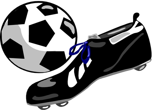 soccer ball & shoe