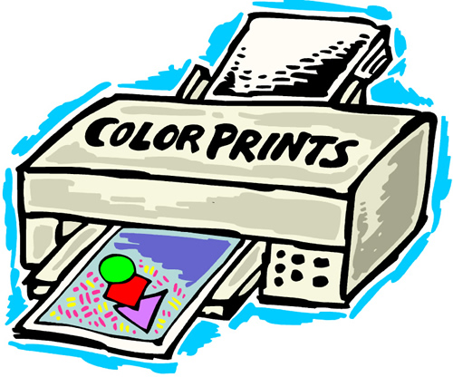 color printer printing pages