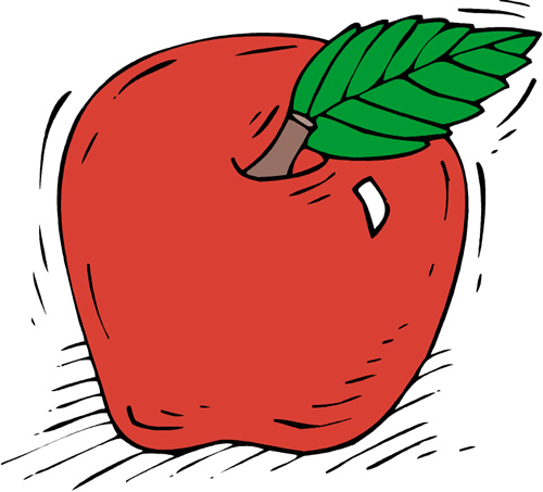 drawing of an apple