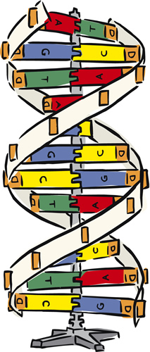 Comic Representation of the DNA Helix