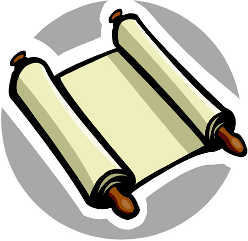 Scroll from School Wires clipart