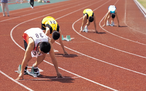 People Running Track