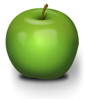 clip art image of green apple