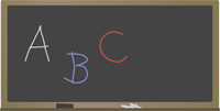abc on chalkboard
