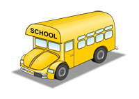 Clip Art Image of School Bus