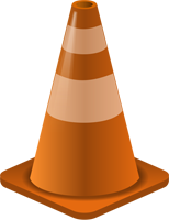 work zone traffic cone