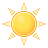 Graphic of the sun shining